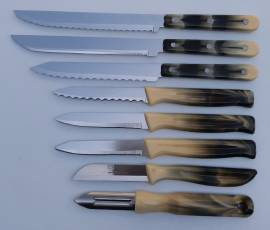8-teiliges GOODWELL Messer-Set - Horn - Bild vergrößern
