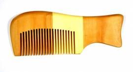 Edler NATUR- HOLZKAMM normalform / handgefertigter Haarkamm - Bild vergrößern