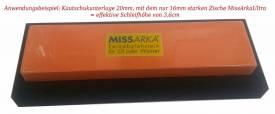 Schleifstein-Unterlage aus Zellkautschuk 220mm x 80mm x 20mm - Bild vergrößern