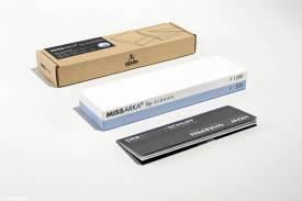 Abziehstein MissArka-BLUE 500/1200 für Küchenmesser (Einzelstein) - Bild vergrößern
