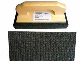 Rutscher Schruppstein 200x100x30mm FEPA 30 Siliciumkarbid mit Griff für Beton - Bild vergrößern