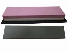 Messer-Schärf-Set 3L Korund FEPA 120/280 + behandeltes  Abziehleder